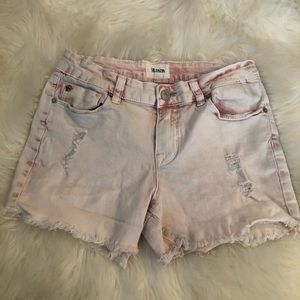 HUDSON PINK DISTRESSED SHORTS